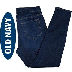 Old Navy – Rockstar Mid-Rise Indigo Skinny Jeans